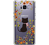 Case For Samsung Galaxy S8 Plus S8 Ultra-thin Transparent Pattern Back Cover Cat Flower Soft TPU for S8 S8 Plus S7 edge S7 S6 edge plus