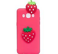 cheap -Case For Samsung Galaxy J7 (2017) J3 (2017) Pattern DIY Back Cover Fruit 3D Cartoon Soft TPU for J7 (2017) J7 (2016) J5 (2017) J5 (2016)