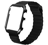 Недорогие -Ремешок для часов для Apple Watch Series 3 / 2 / 1 Apple Кожаный ремешок Металл Кожа Повязка на запястье
