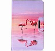 Недорогие -Кейс для Назначение SSamsung Galaxy Чехол планшетный случаи Фламинго Твердый Кожа PU для Tab E 9.6