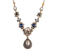 cheap -Women's Crystal Cubic Zirconia Crystal Pendant Necklace Statement Necklace  -  Geometric Irregular Bronze Necklace For Evening Party Stage