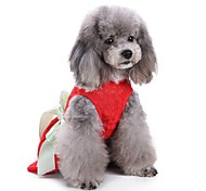 Cat Dog Coat Tuxedo Dress Dog Clothes Party Casual/Daily Wedding Christmas New Year's Solid Red