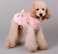 Cat Dog Coat Christmas Dog Clothes Casual/Daily Keep Warm Halloween Bowknot Coffee Pink Costume For Pets