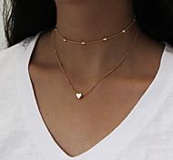 Недорогие -Жен. Ожерелья-бархатки Ожерелья с подвесками Ожерелья-цепочки Бижутерия На заказ Мода Multi-Wear способы Euramerican Простой стиль На