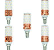 Недорогие -BRELONG® 5 шт. 12W 1000 lm E14 LED лампы типа Корн T 60 светодиоды SMD 2835 Тёплый белый Белый Двойной цвет источника света AC 220-240V