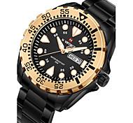NAVIFORCE Men's Kid's Military Watch Dress Watch Wrist watch Japanese Quartz Calendar Chronograph Water Resistant / Water Proof