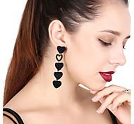 cheap -Women's Drop Earrings Front Back Earrings Rhinestone Sweet Elegant Rhinestone Flannelette Heart Jewelry For Party Gift