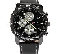 preiswerte -JUBAOLI Herrn Quartz Armbanduhr Chinesisch Großes Ziffernblatt Legierung Leder Band Charme Einzigartige kreative Uhr Schwarz Weiß Blau Rot