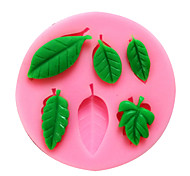 cheap -Bakeware Silicone Leaf Baking Molds for Fondant Candy Chocolate Cake