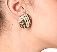 cheap -Women's Stud Earrings / Clip Earrings - Vintage / Elegant Black / Yellow / Dark Coffee Earrings For Daily / Work