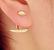 cheap -Women's Gold Plated Stud Earrings / Hoop Earrings - Simple / Fashion Gold Earrings For Casual / Club