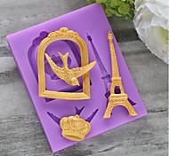 Недорогие -Формы для пирожных Круглый конфеты силикагель День Благодарения Новый год День рождения Праздник