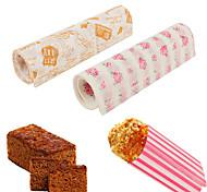 Недорогие -50 шт / комплект бумаги для упаковки пищевых продуктов водонепроницаемый воск бумажный торт печенье макарон жиронепроницаемая выпечка случайный цвет