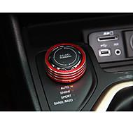 Automobile Bouton rotatif d'engrenage Gadgets d'Intérieur de Voiture Pour Jeep Toutes les Années Cherokee en alliage d'aluminium