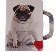 Недорогие -Кейс для Назначение Apple iPad Air 2 iPad (2017) Бумажник для карт Кошелек со стендом Флип С узором Магнитный Чехол С собакой Твердый