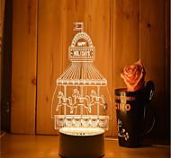 1 Set Of 3D Mood Night Light Hand Feeling Dimmable USB Powered Gift Lamp Amusement Park