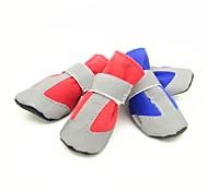 Недорогие -Собака обувь для собак Одежда для собак На каждый день Сохраняет тепло Однотонный Красный Синий Розовый Костюм Для домашних животных