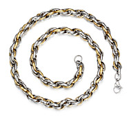 Men's Fashion Mixed Color Titanium Steel Chain Necklace Christmas Gifts