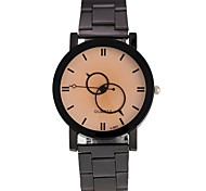 Men's Women's Wrist watch Chinese Quartz Alloy Band Black