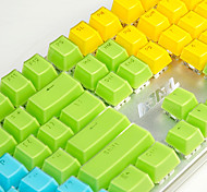 cheap -AJ Crystal Mechanical Keyboard Key Cap 104 All-Key Two-Color Transparent Color Key Hat Polychromatic Optional