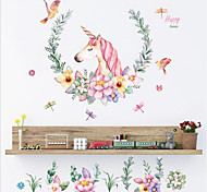 Unicorn Family DIY Art PVC Wall Sticker Home Decor Decal Mural Removable 60X90CM