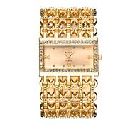 Недорогие -Жен. Модные часы Нарядные часы Наручные часы Китайский Кварцевый С гравировкой Имитация Алмазный Металлический сплав Группа Роскошь На