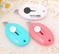 Недорогие -мини-карманный нож яйцо форму студент резкое лезвие бумага режущие инструменты школа канцелярские случайный цвет