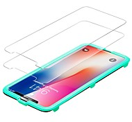 cheap -Screen Protector Apple for iPhone X Tempered Glass 2 pcs Front Screen Protector Anti-Fingerprint Scratch Proof Ultra Thin 2.5D Curved