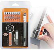 19 en 1 destornillador de trinquete multifuctioal bits bits ranurados phillips torx parafusadeira destornillador reparación kit de