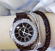 cheap -Women's Wrist watch Fashion Watch Japanese Quartz Casual Watch Ceramic Band Charm Black White