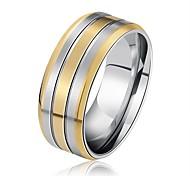 Недорогие -Муж. Жен. Классические кольца Рок Cool Нержавеющая сталь Геометрической формы Бижутерия Назначение Свадьба Бар
