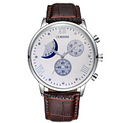 cheap -Men's Women's Casual Watch Sport Watch Fashion Watch Chinese Quartz Calendar Chronograph Water Resistant / Water Proof Moon Phase Leather