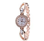 Women's Bracelet Watch Wrist watch Simulated Diamond Watch Dress Watch Chinese Quartz Imitation Diamond Alloy Metal Band Luxury Casual