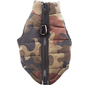 cheap -Dog Coat Vest Dog Clothes Breathable Casual/Daily Camouflage Red Green Blue Pink Camouflage Color Costume For Pets