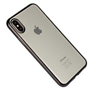 Недорогие -Кейс для Назначение Apple iPhone X iPhone 8 Защита от удара Покрытие Прозрачный Кейс на заднюю панель Сплошной цвет Мягкий ТПУ для iPhone