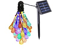 Solar Outdoor Garden Landscape Lamp 30LED Festival Wedding Courtyard Decoration Energy-Saving Lantern 2V 100MA 1Pcs