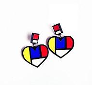 Недорогие -Жен. Серьги-кольца Акрил Хип-хоп Милая Акрил Сплав В форме сердца Бижутерия Назначение На выход фестиваль
