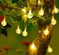 abordables -5m 50leds boule de cristal en plein air aa batterie led chaîne fée lumière jardin décoration