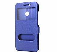 cheap -Case For Huawei Nova 2 Nova Wallet with Stand with Windows Flip Full Body Cases Solid Color Hard PU Leather for Nova 2 Plus Nova 2 Nova
