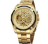 Недорогие -FORSINING Муж. Повседневные часы Модные часы Наручные часы С автоподзаводом С гравировкой Нержавеющая сталь Группа На каждый день