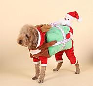 Собака Костюмы Рождество Одежда для собак Рождество Рождество Новогодняя тематика Красный Костюм Для домашних животных