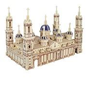 Недорогие -3D пазлы Пазлы Наборы для моделирования Модель дерева 3D Собор Пилар Для детской Горячая распродажа Домики Мода новый Модерн Все