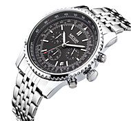 Men's Casual Watch Fashion Watch Dress Watch Wrist watch Quartz Calendar Stainless Steel Band Casual Cool
