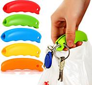 Недорогие -1pc силиконовый мешок держатель ручки повесить сумочку корзины хозяйственная сумка держатель удобная ручка защитить руку