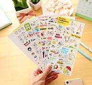 6 шт / набор мультфильм свинья дневник стикер телефон стикер записки наклейки