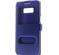 baratos -Capinha Para Samsung Galaxy NNote 8 Note 5 Carteira Com Suporte com Visor Flip Capa Proteção Completa Côr Sólida Rígida PU Leather para