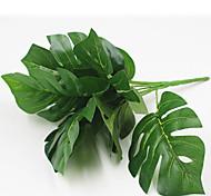 Недорогие -32см 2 шт. 9 голов / ветка черепахи листья домашнее украшение искусственная трава