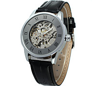 FORSINING Men's Women's Casual Watch Fashion Watch Wrist watch Automatic self-winding Leather Band Casual Cool