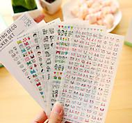 6 шт / набор мультфильм дневник стикер телефон стикер записки наклейки