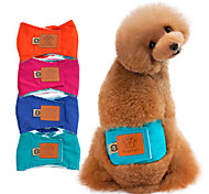 cheap -Dog Pants Cotton Blend Diapers Dog Clothes Solid Colored Orange Green Blue Pink Washable Cotton Costume For Pets Men's Casual/Daily